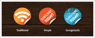Nice 'n' Simple Subscribe Badgesのキャプチャ