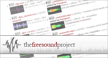 The Freesound Projectのキャプチャ