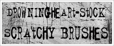 10 Quality and Free Grunge Brushes for PhotoShop and GIMPのキャプチャ