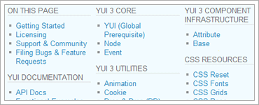 YUI 3.0 Preview Release 1のキャプチャ