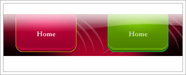 Create pink and green buttons with web 2.0 glowのキャプチャ