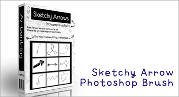 Sketchy Arrow Photoshop Brush Packのキャプチャ
