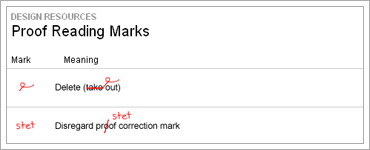 Proof Reading Marksのキャプチャ