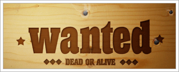 Wanted Sign into a Piece of Woodのキャプチャ